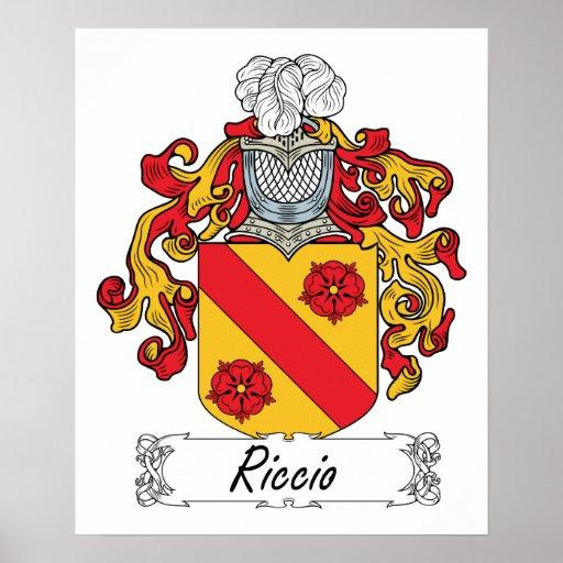 Escudo de la familia de Riccio Poster
