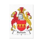 Escudo de la familia de Richard Impresiones En Lona Estiradas