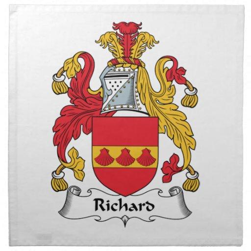 Escudo de la familia de Richard Servilleta Imprimida