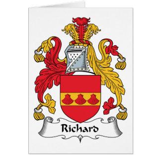 Escudo de la familia de Richard Tarjeta De Felicitación