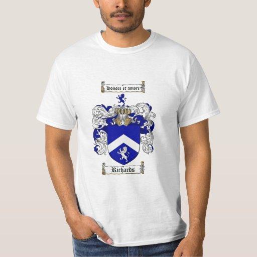 Escudo de la familia de Richards - escudo de armas Playera