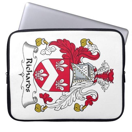 Escudo de la familia de Richards Fundas Computadoras