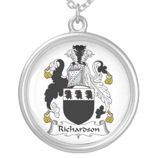 Escudo de la familia de Richardson Colgante Redondo