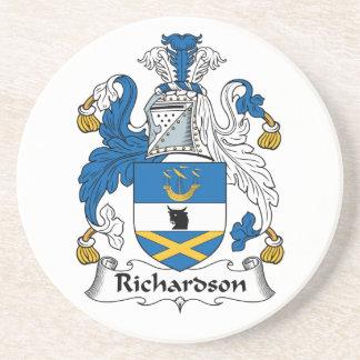 Escudo de la familia de Richardson Posavasos Cerveza