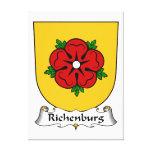Escudo de la familia de Richenburg Impresión De Lienzo