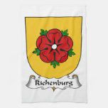 Escudo de la familia de Richenburg Toallas De Mano