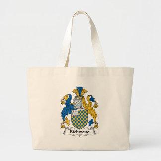 Escudo de la familia de Richmond Bolsa Tela Grande