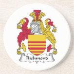 Escudo de la familia de Richmond Posavasos Personalizados