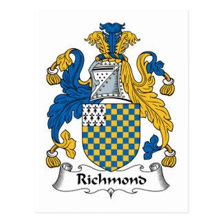 Escudo de la familia de Richmond Postal