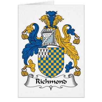 Escudo de la familia de Richmond Tarjeta De Felicitación