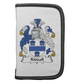 Escudo de la familia de Riddall Planificador