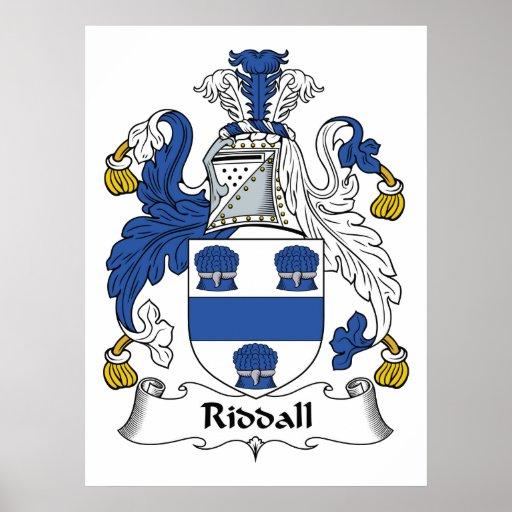 Escudo de la familia de Riddall Póster