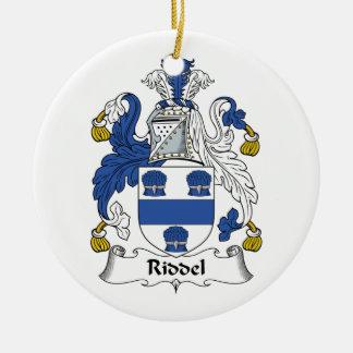 Escudo de la familia de Riddel Adorno Navideño Redondo De Cerámica