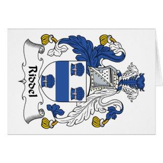 Escudo de la familia de Riddel Felicitacion