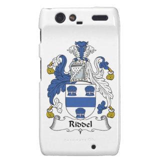 Escudo de la familia de Riddel Motorola Droid RAZR Funda