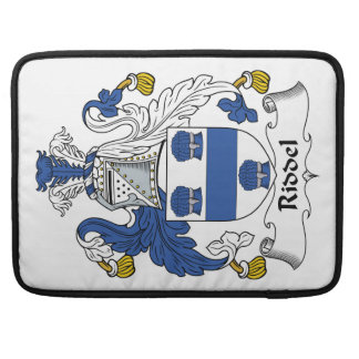 Escudo de la familia de Riddel Fundas Macbook Pro