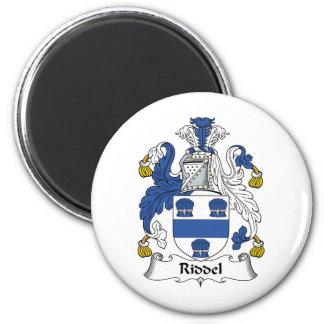 Escudo de la familia de Riddel Imán Redondo 5 Cm