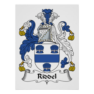 Escudo de la familia de Riddel Impresiones