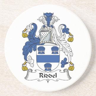 Escudo de la familia de Riddel Posavasos Para Bebidas