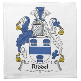Escudo de la familia de Riddel Servilleta
