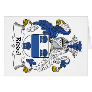 Escudo de la familia de Riddel Tarjeta De Felicitación