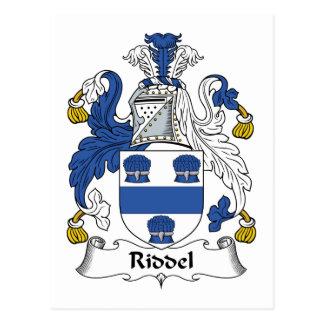 Escudo de la familia de Riddel Tarjeta Postal