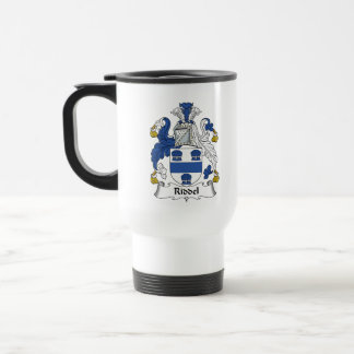 Escudo de la familia de Riddel Tazas De Café