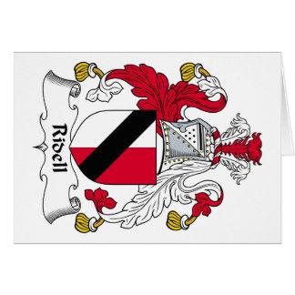 Escudo de la familia de Ridell Felicitaciones