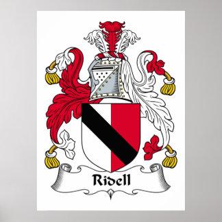 Escudo de la familia de Ridell Impresiones