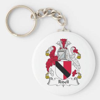 Escudo de la familia de Ridell Llavero Redondo Tipo Pin