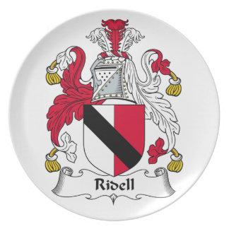 Escudo de la familia de Ridell Plato Para Fiesta