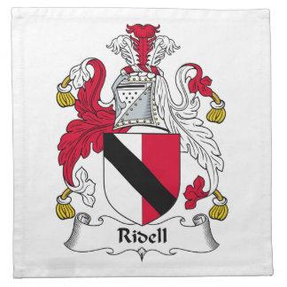 Escudo de la familia de Ridell Servilleta Imprimida