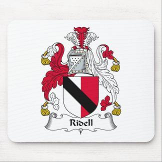 Escudo de la familia de Ridell Alfombrillas De Ratón