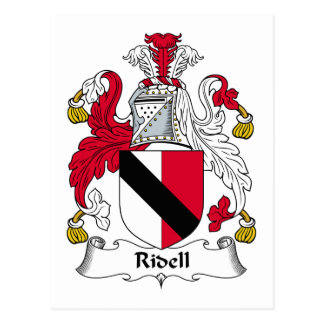 Escudo de la familia de Ridell Tarjetas Postales