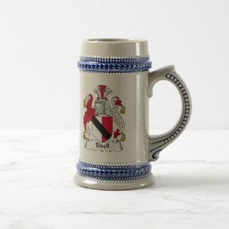 Escudo de la familia de Ridell Tazas De Café