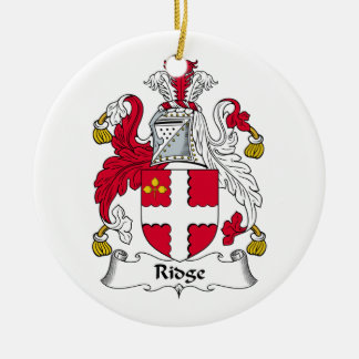 Escudo de la familia de Ridge Adorno Redondo De Cerámica