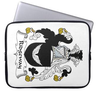 Escudo de la familia de Ridgeway Funda Computadora