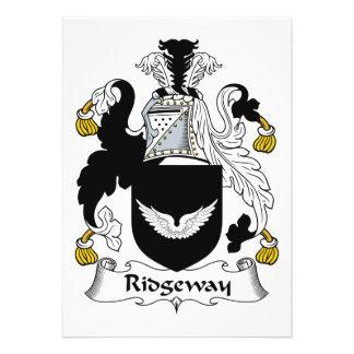 Escudo de la familia de Ridgeway Invitaciones Personales