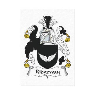 Escudo de la familia de Ridgeway Impresion De Lienzo