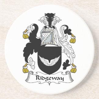 Escudo de la familia de Ridgeway Posavasos Manualidades