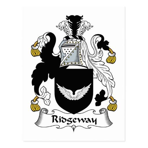 Escudo de la familia de Ridgeway Tarjetas Postales