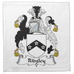 Escudo de la familia de Ridgley Servilletas De Papel