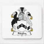 Escudo de la familia de Ridgley Tapetes De Raton