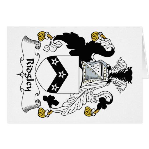 Escudo de la familia de Ridgley Tarjeta De Felicitación