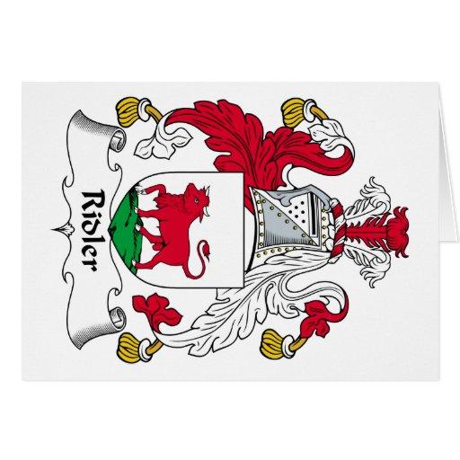 Escudo de la familia de Ridler Felicitación