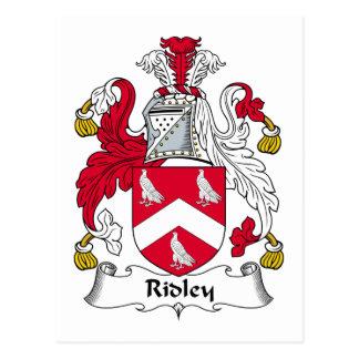 Escudo de la familia de Ridley Tarjeta Postal