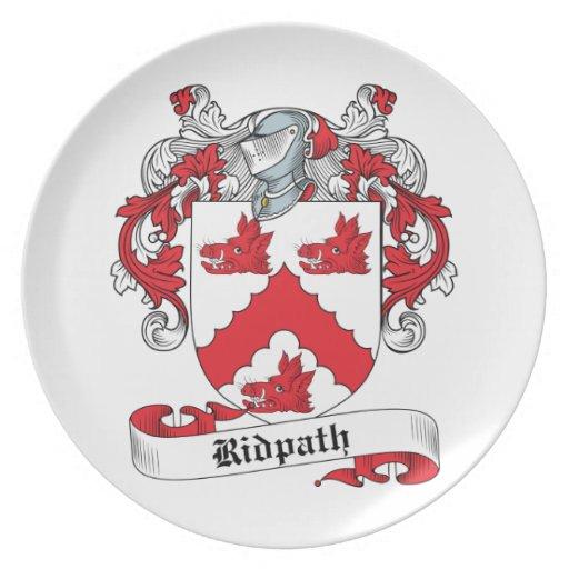 Escudo de la familia de Ridpath Plato De Cena