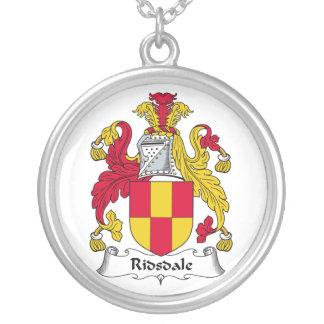 Escudo de la familia de Ridsdale Colgante Redondo