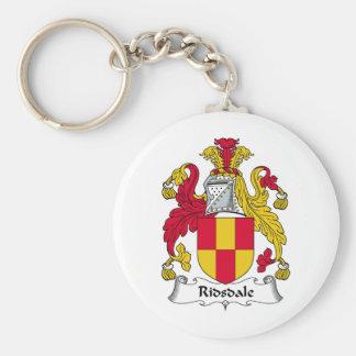 Escudo de la familia de Ridsdale Llavero Redondo Tipo Pin