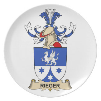 Escudo de la familia de Rieger Plato De Comida